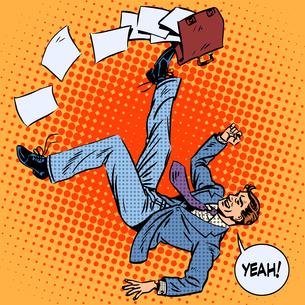 Businessman scores portfolio business success conceptの写真素材 [FYI00779985]