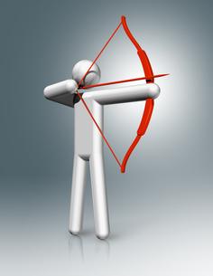 Archery 3D symbol, Olympic sportsの素材 [FYI00780252]