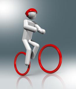 Cycling Mountain Bike 3D symbol, Olympic sportsの素材 [FYI00780282]