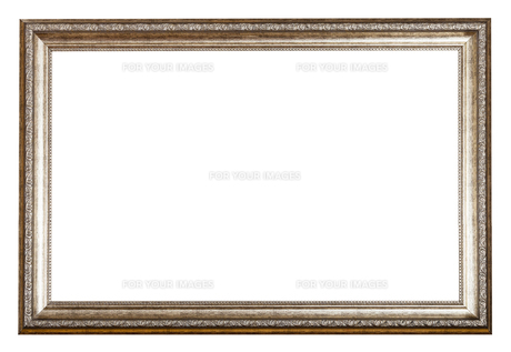 baroque style sliver wooden picture frameの写真素材 [FYI00780283]