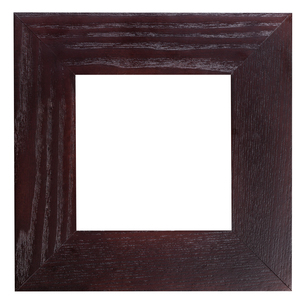 square flat dark brown wooden picture frameの写真素材 [FYI00780291]