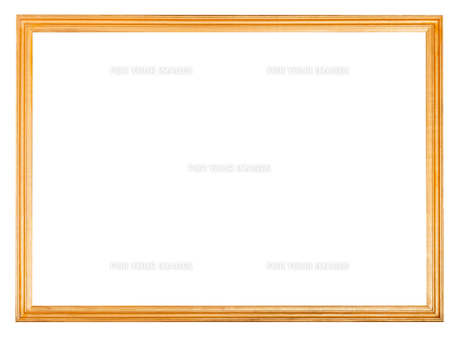 simple narrow wooden picture frameの写真素材 [FYI00780312]