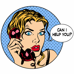 Communication phone woman said I can help you. Business work serの写真素材 [FYI00780330]