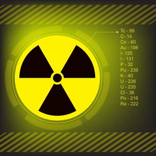 radiation warning symbol vectorの写真素材 [FYI00780428]