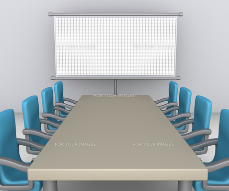 Table and chairs as meeting preparationの素材 [FYI00780562]