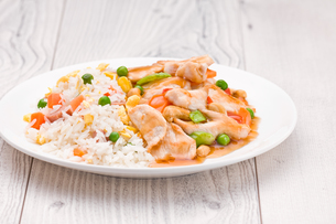 Chicken Cashew Rice dishの写真素材 [FYI00780566]