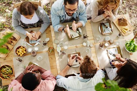 Thanksgiving dinnerの写真素材 [FYI00780839]