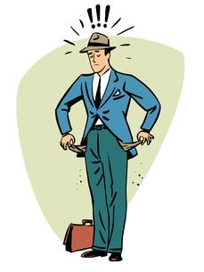 No money businessman beggar collapse Finance business people conの写真素材 [FYI00781161]