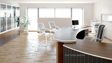 3D interior rendering of a modern officeの写真素材 [FYI00781365]