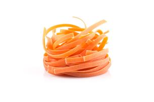 chilli orange fettuccine pastaの写真素材 [FYI00781417]