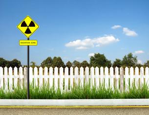 radiation warning symbolの写真素材 [FYI00781568]