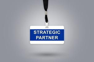 Strategic partner on badgeの写真素材 [FYI00781706]