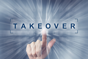 hand clicking on takeover buttonの素材 [FYI00781731]