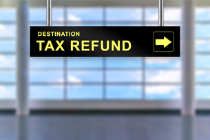 tax refund airport sign boardの写真素材 [FYI00781732]