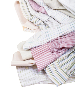shirts cuffs and collars close up isolatedの写真素材 [FYI00781756]