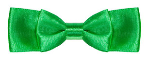 green satin double bow knot isolatedの素材 [FYI00781765]