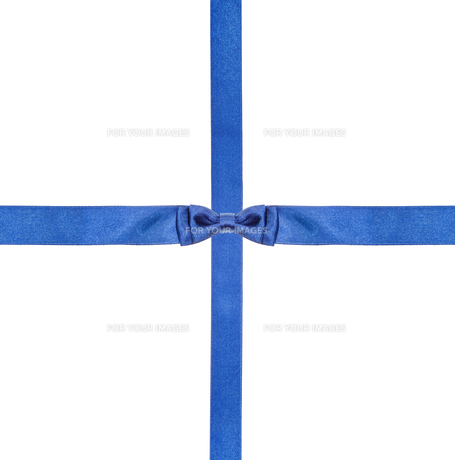blue satin bows and ribbons isolated - set 8の写真素材 [FYI00781791]