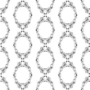 seamless damask patternの写真素材 [FYI00781913]
