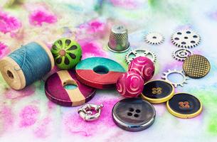 accessories for needleworkの写真素材 [FYI00782132]