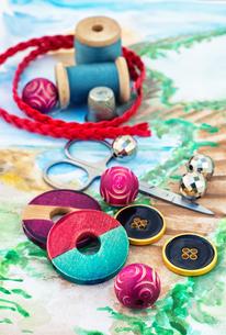 accessories for needleworkの写真素材 [FYI00782149]