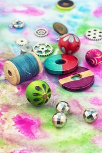 accessories for needleworkの写真素材 [FYI00782164]