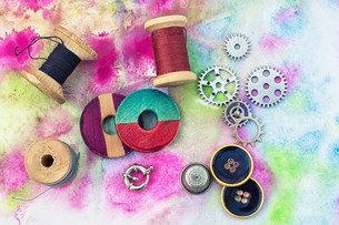 accessories for needleworkの写真素材 [FYI00782170]