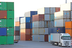 Container Portの写真素材 [FYI00782324]