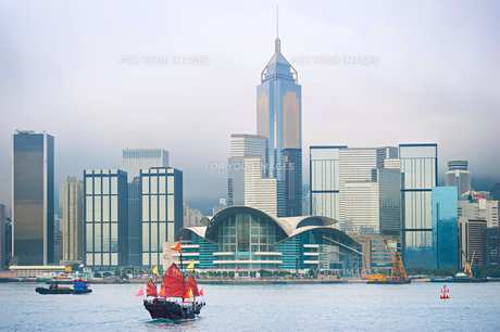 Hong Kong Downtown skylineの写真素材 [FYI00782528]