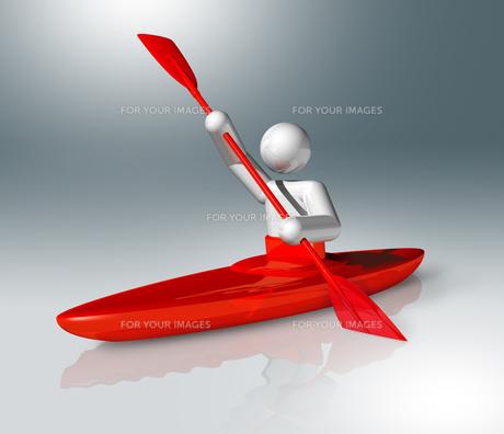 Canoe Slalom 3D symbol, Olympic sportsの素材 [FYI00782534]