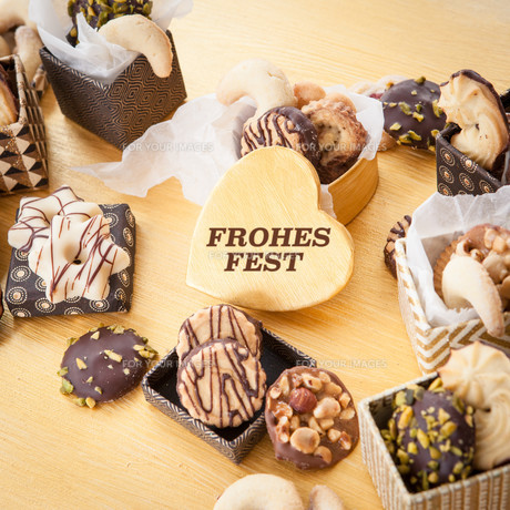 assorted biscuits for christmasの写真素材 [FYI00782538]