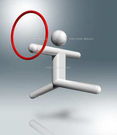 Gymnastics Rhythmic 3D symbol, Olympic sportsの素材 [FYI00782547]