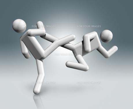 Taekwondo 3D symbol, Olympic sportsの素材 [FYI00782558]
