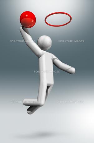 Basketball 3D symbol, Olympic sportsの素材 [FYI00782561]