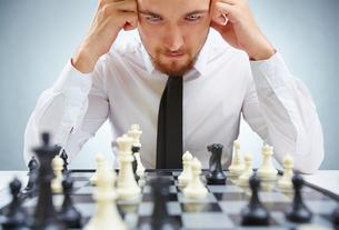 Pensive businessmanの素材 [FYI00782935]