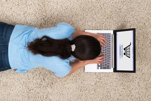 Woman Doing Online Shoppingの写真素材 [FYI00783254]