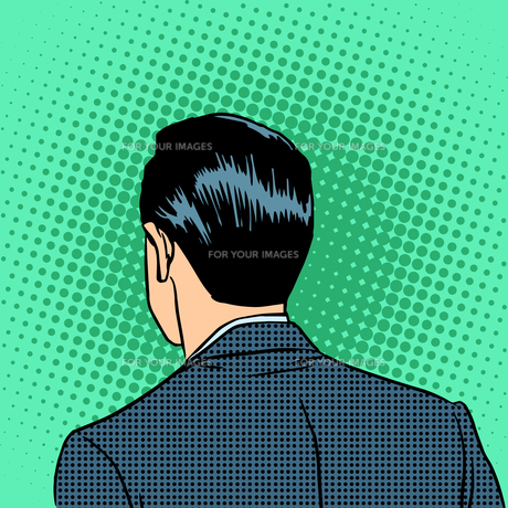 back head businessmanの素材 [FYI00783538]