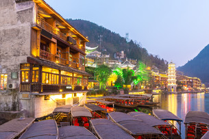 Fenghuang ancient town Chinaの写真素材 [FYI00783539]