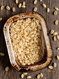 italian rustic uncooked gnocchetti sardi pastaの写真素材 [FYI00783611]