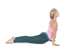 yoga_adho mukha svanasana_step_1の写真素材 [FYI00783635]