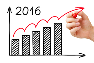 Growth Graph Year 2016 Conceptの写真素材 [FYI00783767]