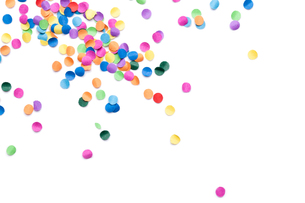 confetti colorful background with text spaceの素材 [FYI00784033]