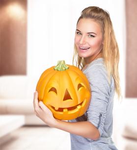 Celebrate Halloween holidayの写真素材 [FYI00784045]