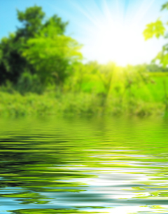 Surface Rippled of water and blur nature backgroundの写真素材 [FYI00784074]