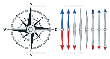 compass with similar arrows isolatedの素材 [FYI00784106]
