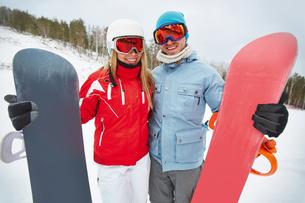 Snowboarding loversの写真素材 [FYI00784140]