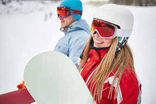 Happy snowboarderの写真素材 [FYI00784152]
