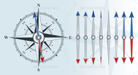 compass with similar arrowsの素材 [FYI00784156]