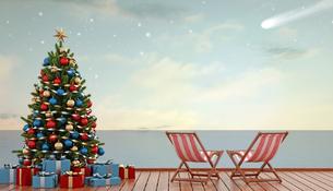 Christmas at seaの写真素材 [FYI00784187]