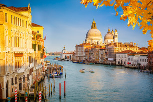 Venice at sunny eveningの写真素材 [FYI00784436]
