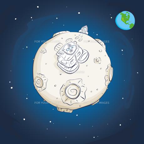 astronaut on the moonの素材 [FYI00784593]